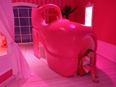 Barbie dream house was opened in Berlin