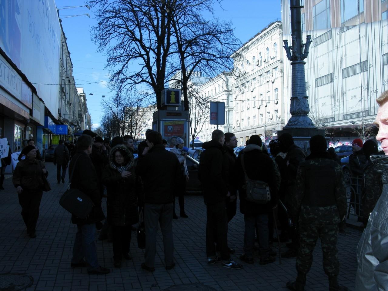 "Самооборона Майдана побила титушек из движения ""За чистый Киев""."