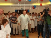 Напередодні професійного свята столичні лікарі отримали привітання від будівельників