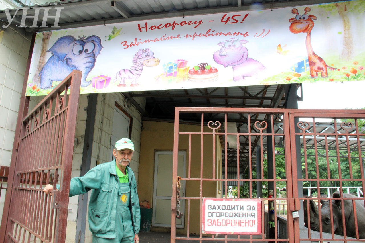 У Київському зоопарку привітали носорога-довгожителя із днем народження - фото 10