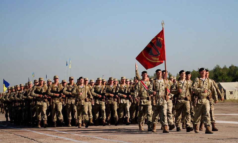 ВКиеве прошла тренировка парадных подразделений ВСУ накануне военного парада
