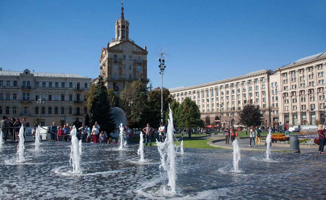 НаМайдане Незалежности вКиеве 2сентября заработает каскадный фонтан