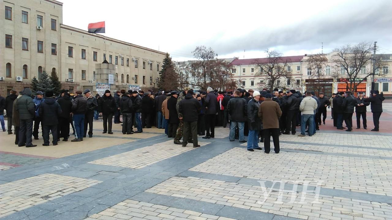 ВКропивницком пожилые люди МВД перекрыли центр города