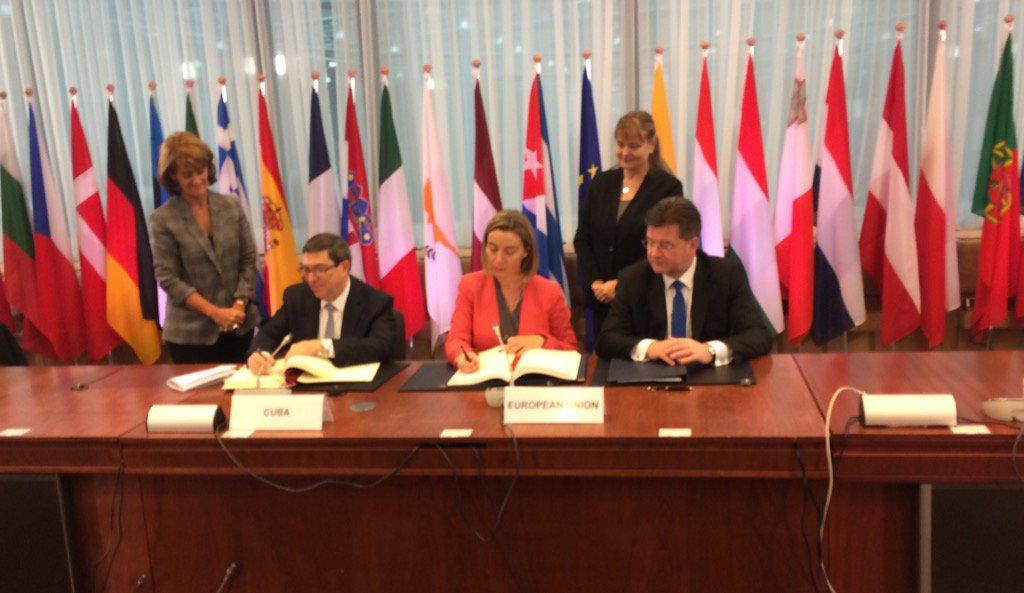 ЕСиКуба подписали соглашение онормализации отношений
