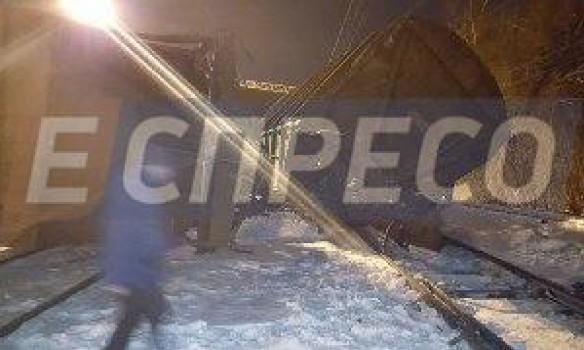 ВСоломенском районе украинской столицы столкнулись два поезда