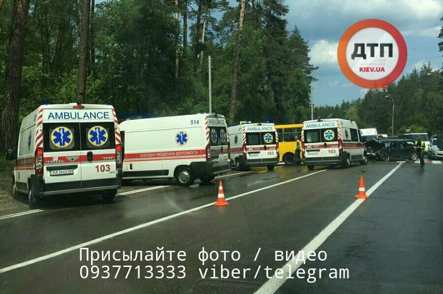 Масштабна ДТП змаршруткою уКиєві - багато постраждалих