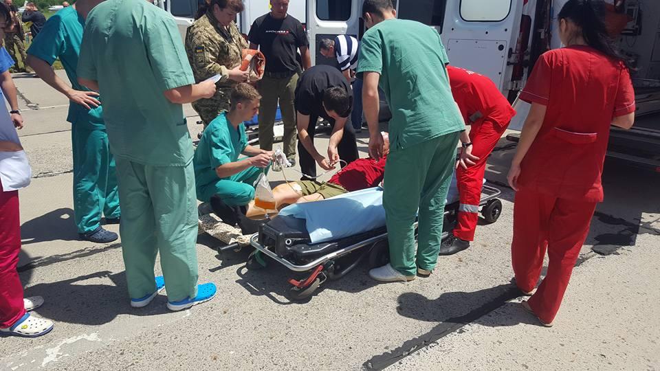 ВОдессу прибыл борт сраненными АТОшинками: 22 раненых, есть тяжелые