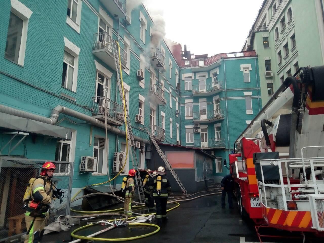 Пожежа уцентрі Києва сталася вресторані