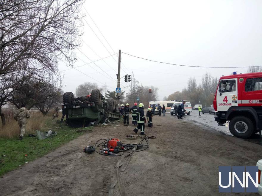 УЗапоріжжі вДТП загинув військовослужбовець