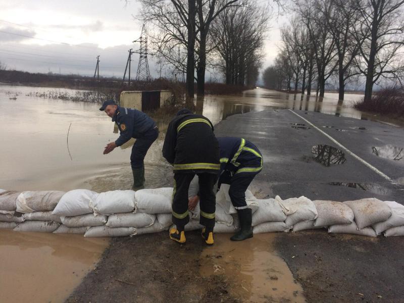 Паводок наЗакарпатті: річка прорвала дамбу, підтоплені десятки будинків