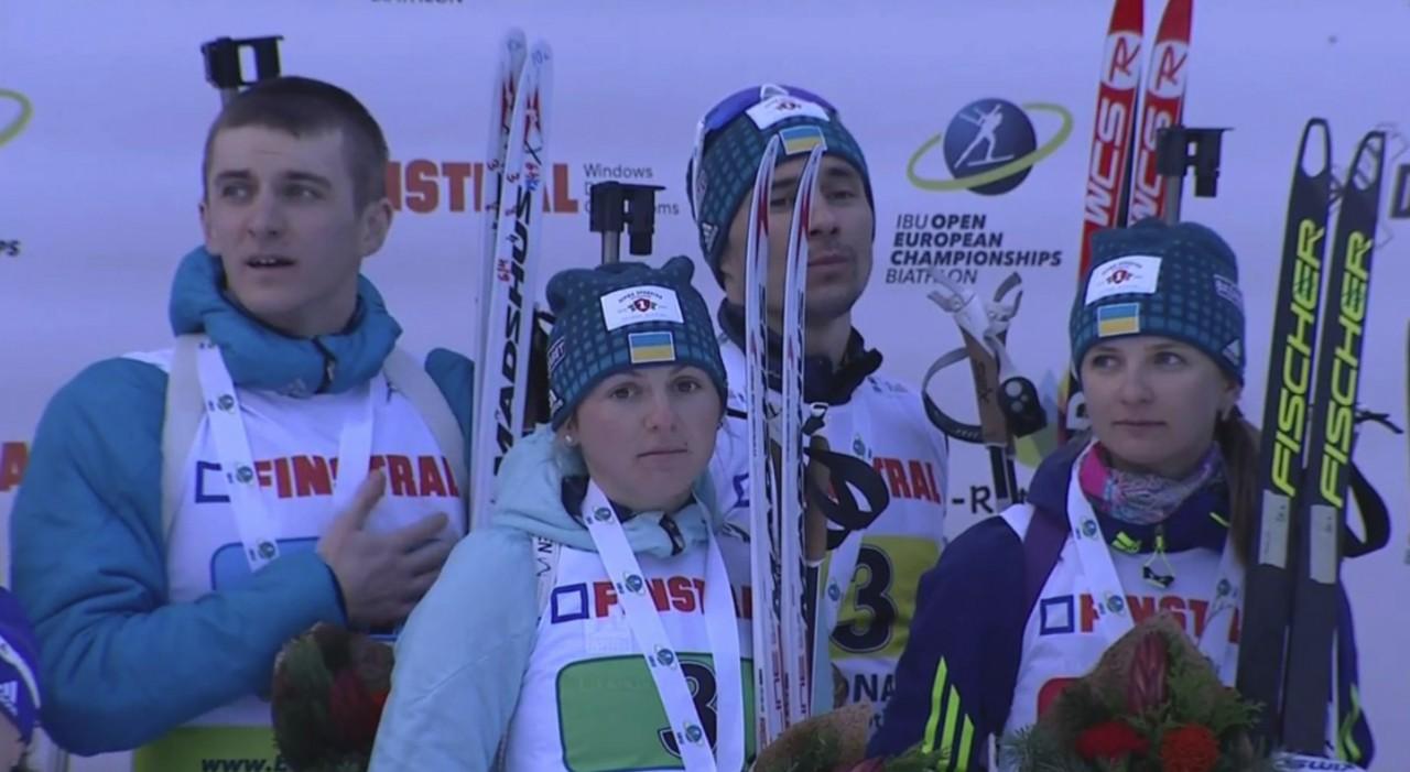 Збірна України з біатлону стала чемпіоном Європи