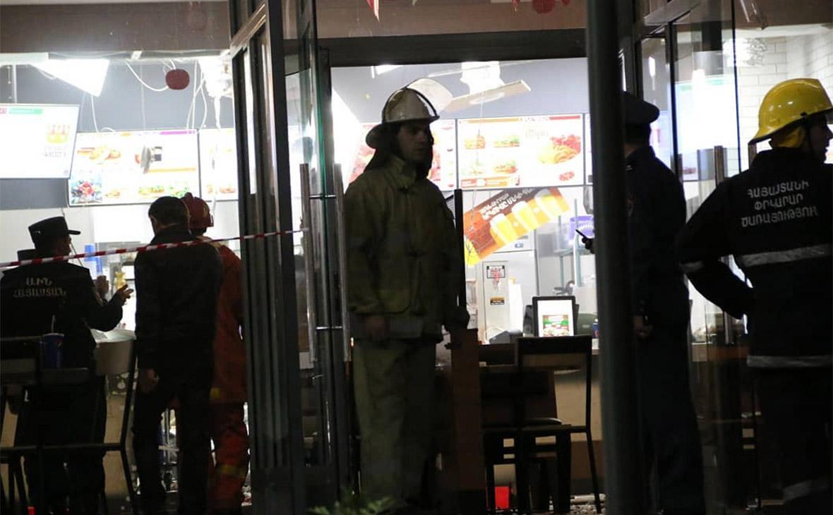 Дев'ятеро людей постраждали під час вибуху вресторані вцентрі Єревана
