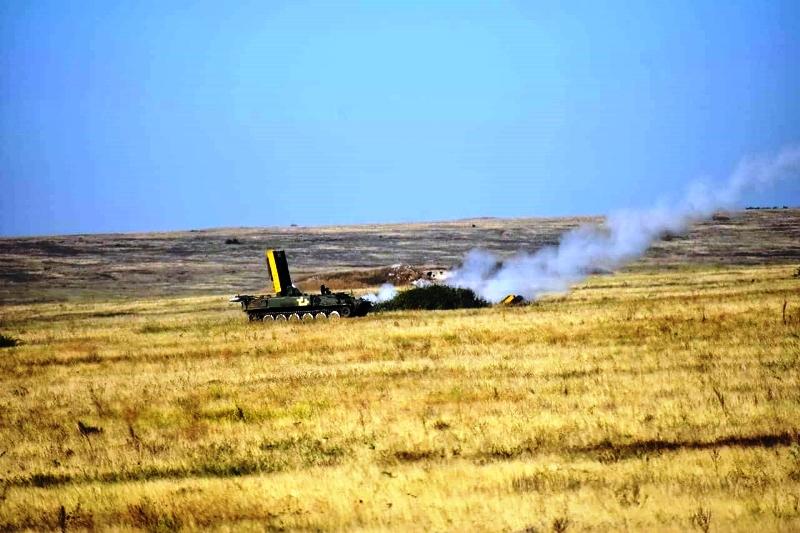 В Херсонской области украинские десантники проводят учения - фото 22