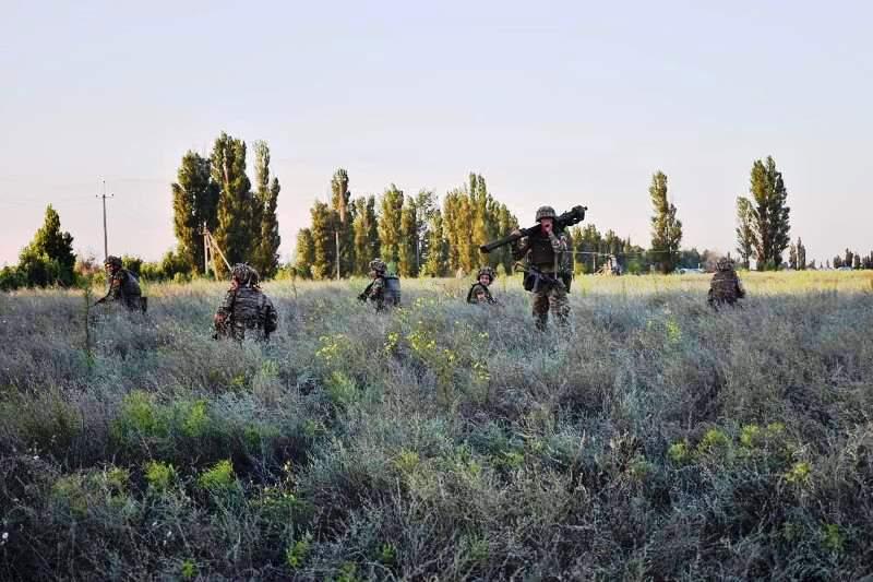 В Херсонской области украинские десантники проводят учения - фото 3