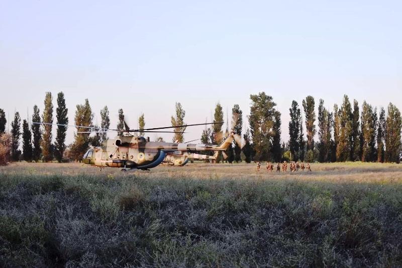 В Херсонской области украинские десантники проводят учения - фото 18