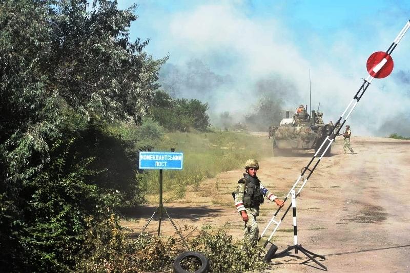 В Херсонской области украинские десантники проводят учения - фото 15