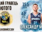 Захисника збірної України визнано кращим баскетболістом місяця Суперліги - фото 1