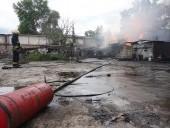 В Днепре горела территория предприятия - фото 2