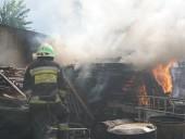 В Днепре горела территория предприятия - фото 1