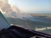 Масштабный лесной пожар в Херсонской области: привлекли авиацию и пожарные танки - фото 1