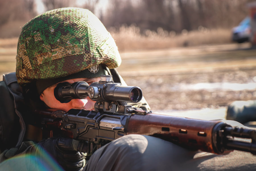 Нацгвардейцы совершенствовали навыки снайперского огня по стандартам НАТО - фото 1