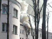 В Киеве горело общежитие КНУСА: эвакуировали шесть человек - фото 6