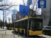 На Соломенке из-за отсутствия электроэнергии пробка из троллейбусов - фото 1
