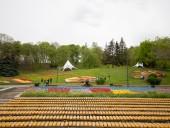 Над композицией работали более 15 дизайнеров: на Певческом открыли выставку с более 700 тысяч тюльпанов - фото 18