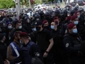 Апелляция Медведчука: Нацкорпус пикетировал суд - фото 2