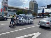 В Киеве таксист Uber протаранил легковушку - фото 1
