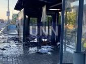 В Киеве сгорела дотла остановка. Предварительная причина - поджог - фото 9