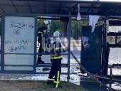 В Киеве сгорела дотла остановка. Предварительная причина - поджог - фото 8