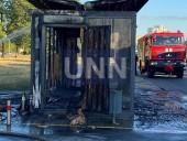 В Киеве сгорела дотла остановка. Предварительная причина - поджог - фото 3