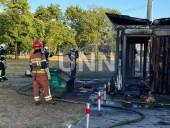 В Киеве сгорела дотла остановка. Предварительная причина - поджог - фото 11