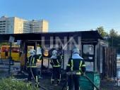 В Киеве сгорела дотла остановка. Предварительная причина - поджог - фото 1