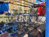Отошел на минуту, а когда вернулся палатка с овощами пылала: в Киеве огонь уничтожил торговую точку - фото 1