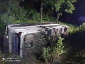 В Ровенской области ночью перевернулся пассажирский автобус - фото 5