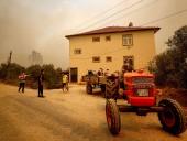 В Анталии вспыхнули масштабные лесные пожары. Людей эвакуируют - фото 4