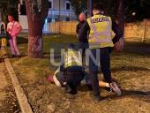 Растрощили троллейбус и плевали в полицейских: двое дебоширов наделали шума в центре столицы - фото 3