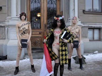 FEMEN held a rally against Sharia constitution in Egypt