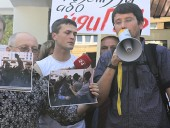 The protest action concerning the beating of the journalists was held at the Interior Ministry in Kiev (added photos, video)
