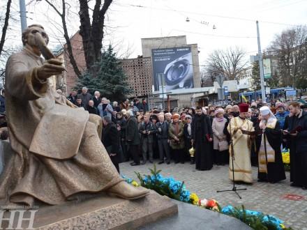 Пам'ятник Михайлу Вербицькому відкрили уЛьвові