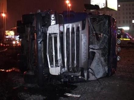 Усмертельній ДТП із вантажівкою вКиєві загинув полісмен— ЗМІ