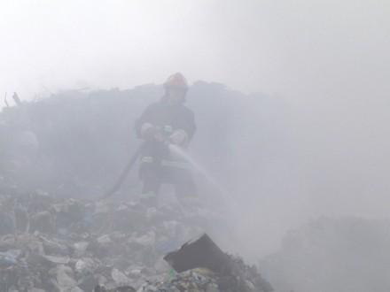 ВХмельницком появился пожар насвалке