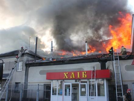 В Харьковской области горел хлебзавод