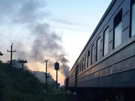 Впроцессе движения неожиданно зажегся поезд