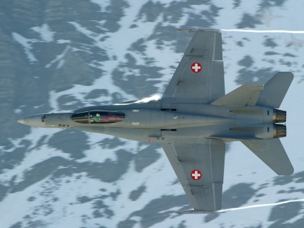 Самолет ВВС Швейцарии бесследно пропал вАльпах