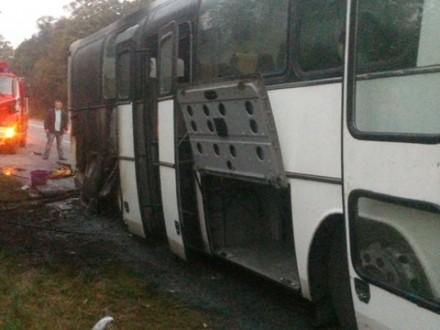 Автобус спассажирами зажегся наВинничине