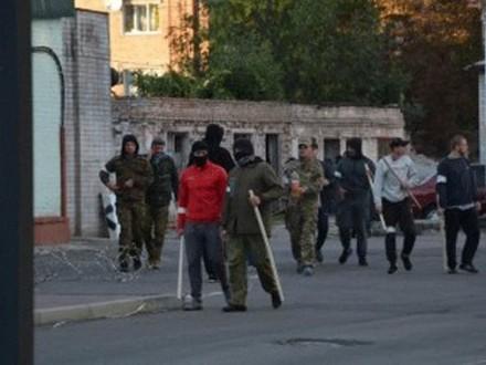 Полсотни человек сбитами попытались захватить «Черкассыоблэнерго» вгосударстве Украина