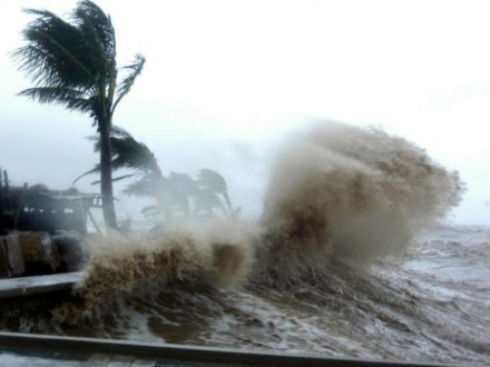Всвязи сприближением тайфуна «Малакас» в КНР объявили жёлтый уровень опасности